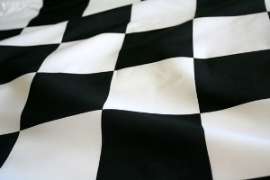Checkered flag to start the wight loss race